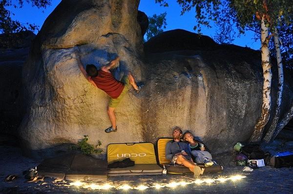 Night time bouldering