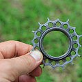 Worn Rohloff sprocket after 22,000 km's
