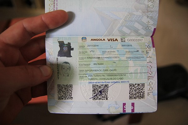 Finally - a visa to Angola
