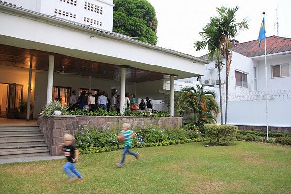 Nordic gathering at the Swedish residence in Kinshasa