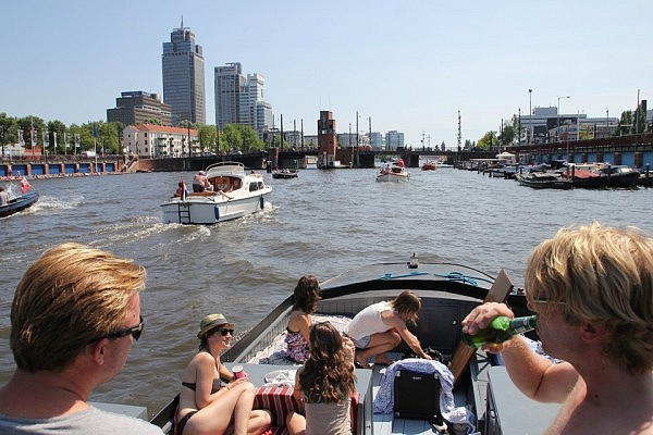 Boat ride on the Amstel river