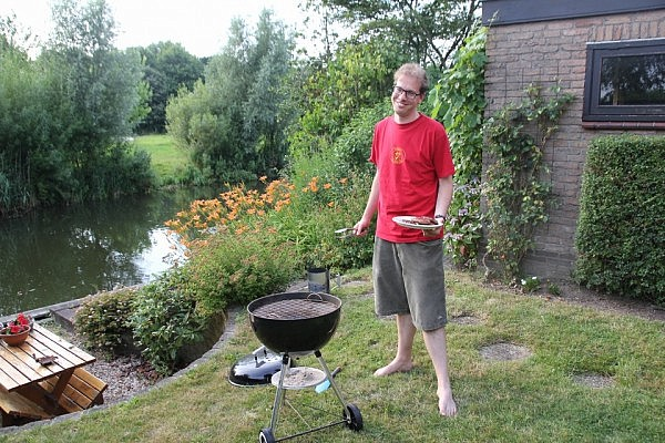 Rogier a.k.a. the BBQ master