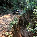 Eroded road