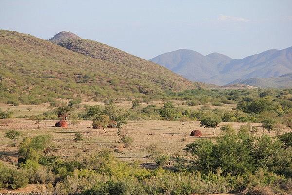Himba settlement
