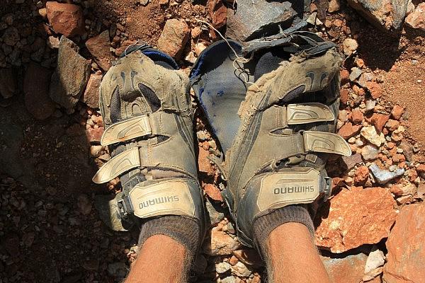 Old shoes: worn beyond repair