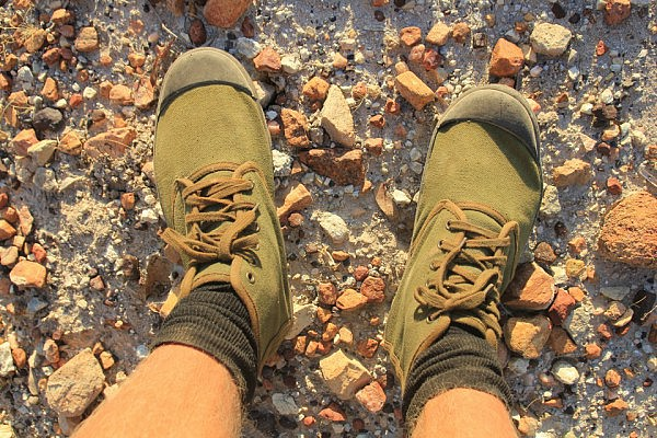 New shoes: Angolan army boots