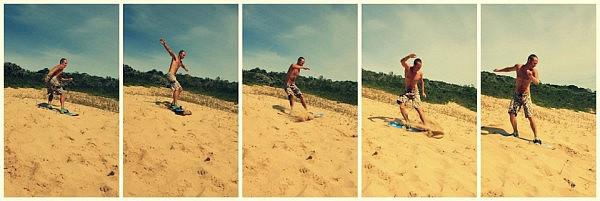 Sandboarding in Sedgefield
