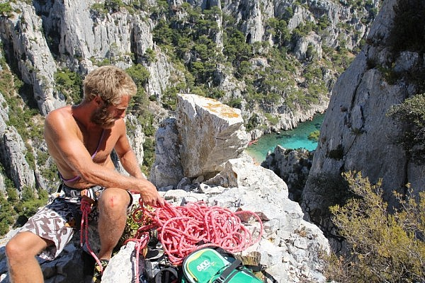 Finished a multi-pitch in Calanques