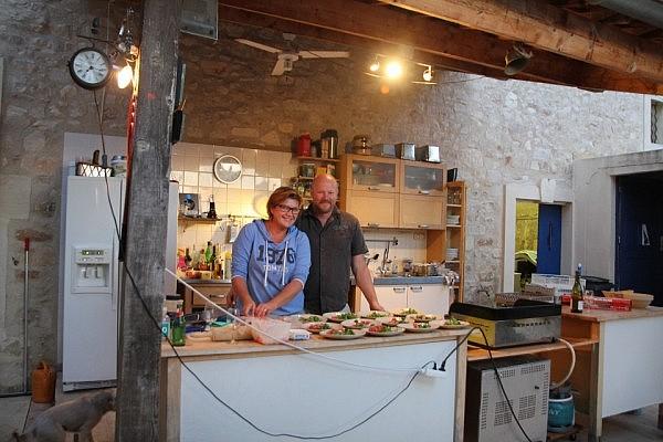 Outi and Magnus at Chez Amis