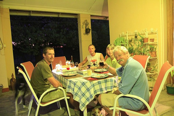 Dinner with Mark, Irmela and Bruno