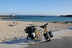Tarifa, Spain's southernmost point with Africa in the background