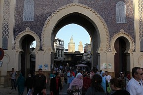 Bab Boujloud, an entrance to the medina of Fès