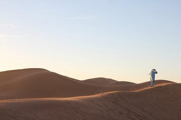 Sand dunes in M'hamid