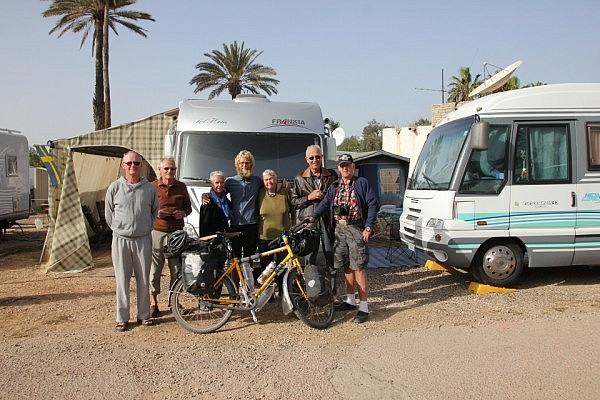 Saying farewell at the camping in Agadir