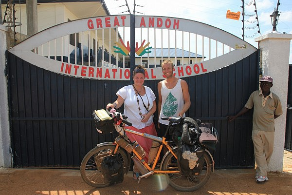 Emelie and me at Great Andoh International School